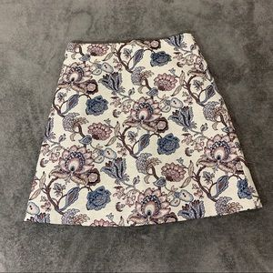 NWT LOFT floral embroidered Skirt